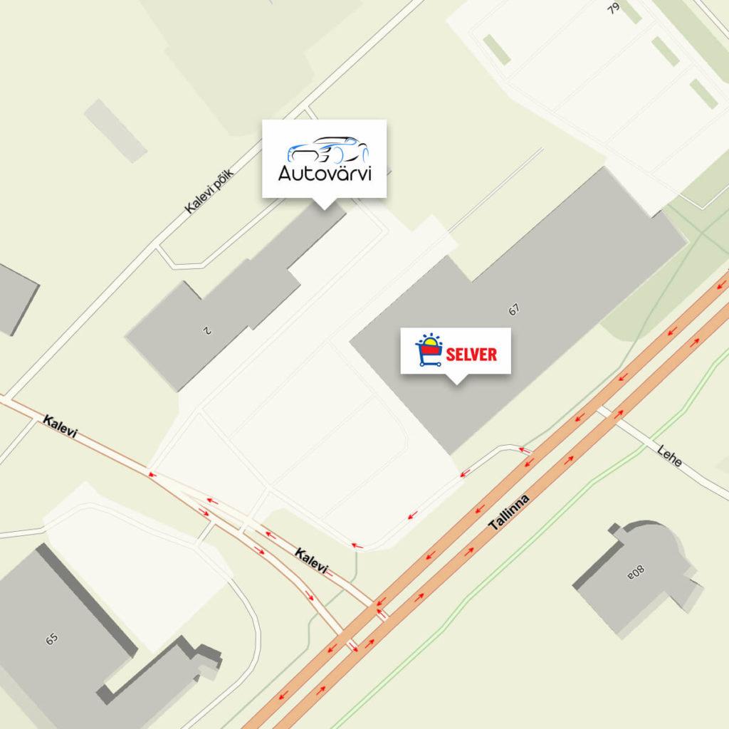 Autovärvi asukoht kaardil